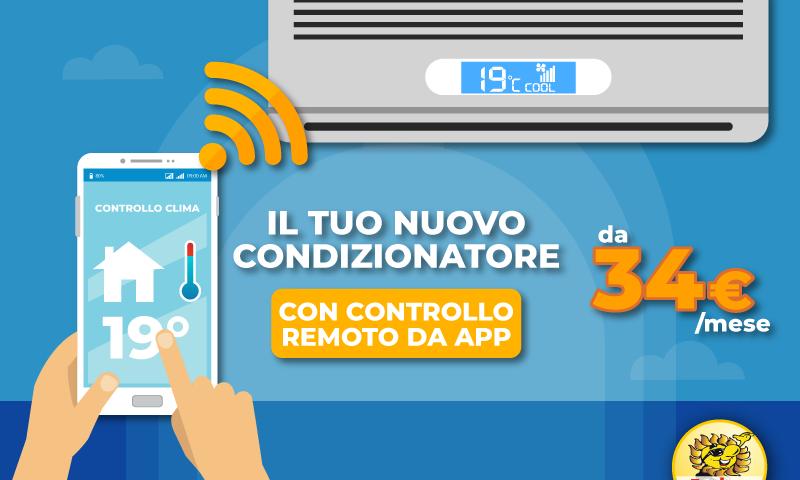 Gestisci il tuo climatizzatore dall'App dello smartphone